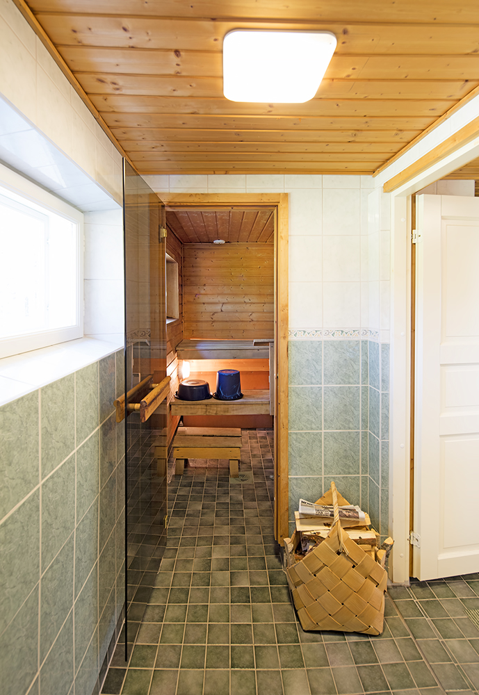 Sauna in Tainan Tupa rental cottage.
